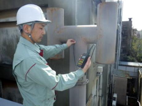 非破壊検査や環境計量測定のお仕事です。